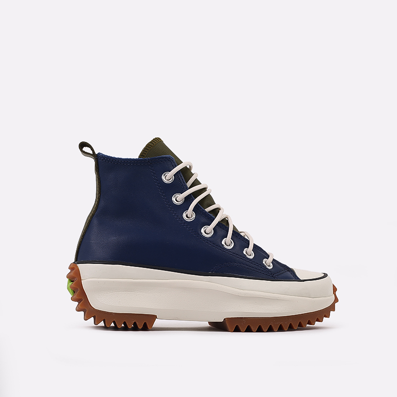женские синие  кеды converse run star hike hi 568650 - цена, описание, фото 1