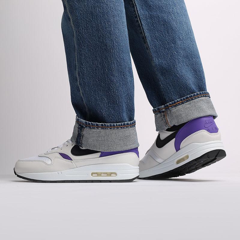 мужские белые, чёрные, фиолетовые  кроссовки nike air max 1 dna ch.1 AR3863-101 - цена, описание, фото 7