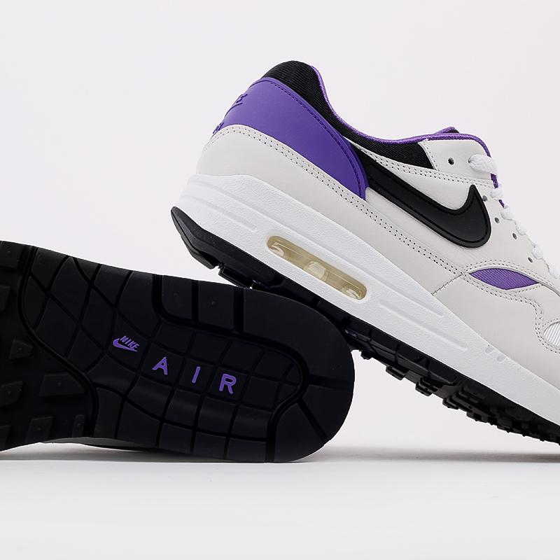 мужские белые, чёрные, фиолетовые  кроссовки nike air max 1 dna ch.1 AR3863-101 - цена, описание, фото 6
