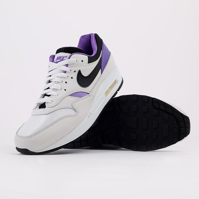 мужские белые, чёрные, фиолетовые  кроссовки nike air max 1 dna ch.1 AR3863-101 - цена, описание, фото 3
