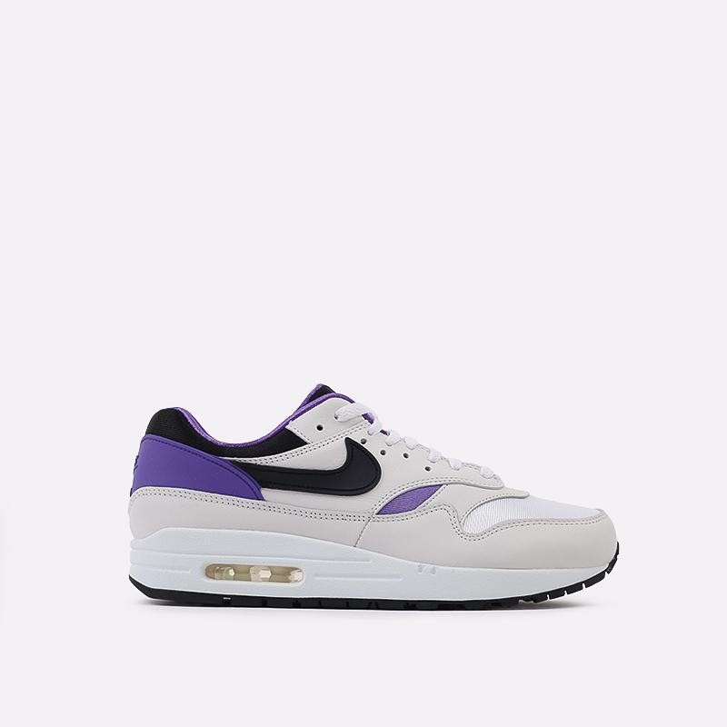мужские белые, чёрные, фиолетовые  кроссовки nike air max 1 dna ch.1 AR3863-101 - цена, описание, фото 1