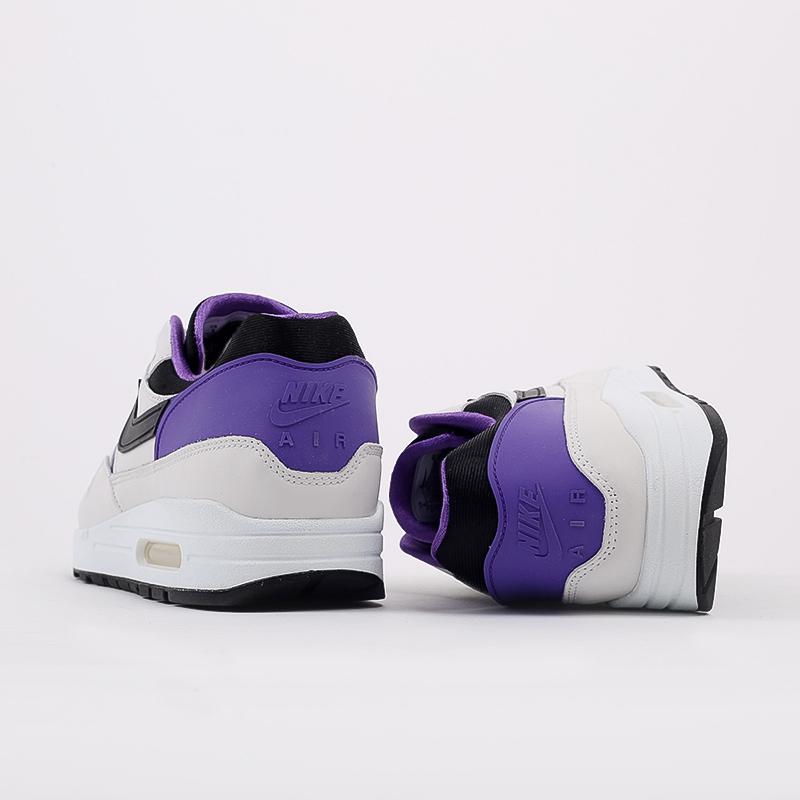 мужские белые, чёрные, фиолетовые  кроссовки nike air max 1 dna ch.1 AR3863-101 - цена, описание, фото 4