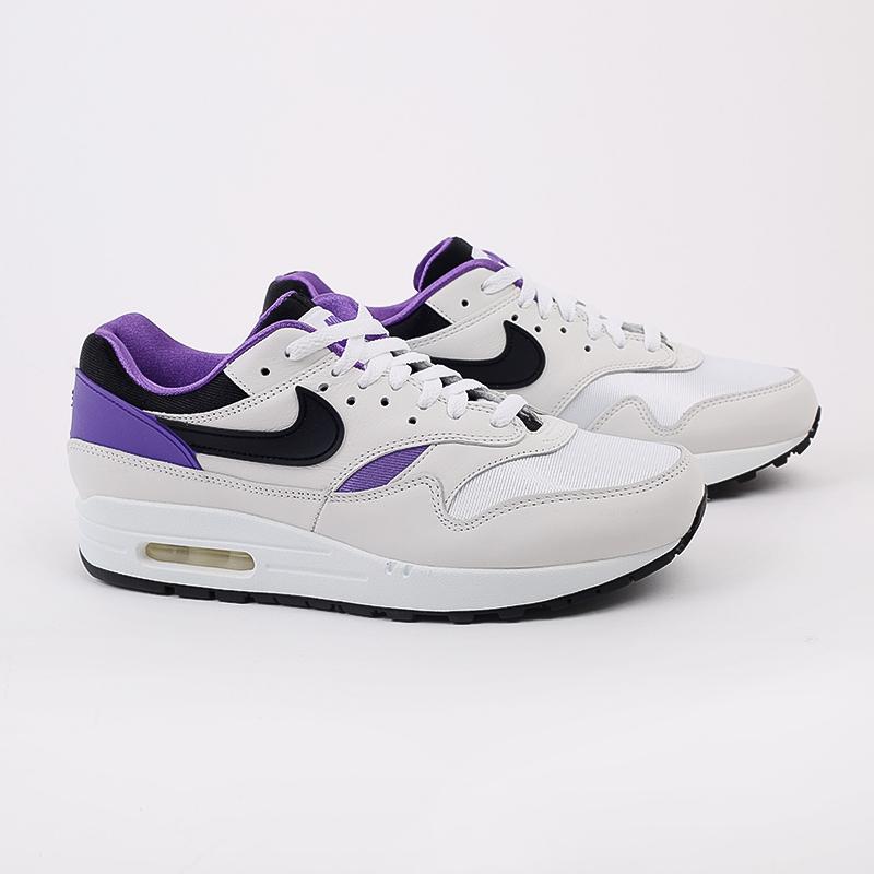 мужские белые, чёрные, фиолетовые  кроссовки nike air max 1 dna ch.1 AR3863-101 - цена, описание, фото 2