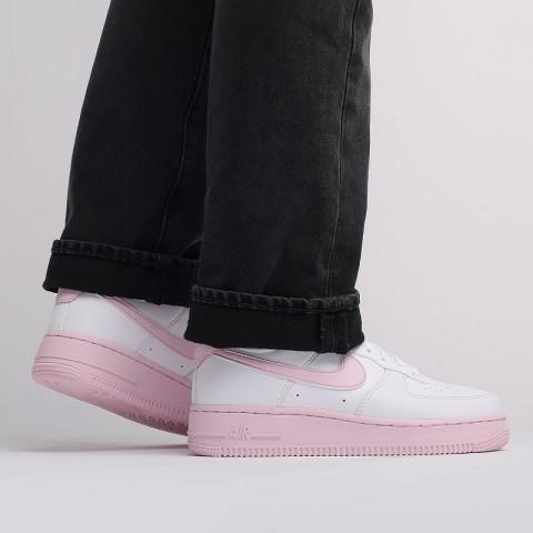мужские белые, розовые  кроссовки nike air force 1 '07 CK7663-100 - цена, описание, фото 9