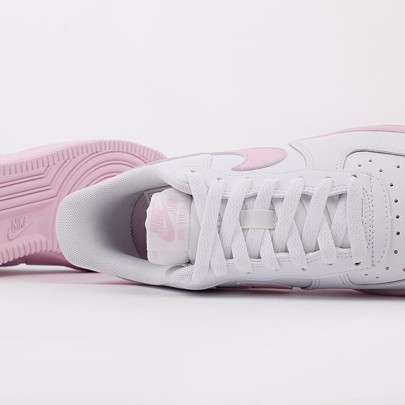 мужские белые, розовые  кроссовки nike air force 1 '07 CK7663-100 - цена, описание, фото 7