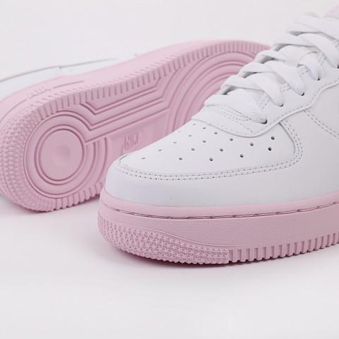 мужские белые, розовые  кроссовки nike air force 1 '07 CK7663-100 - цена, описание, фото 8