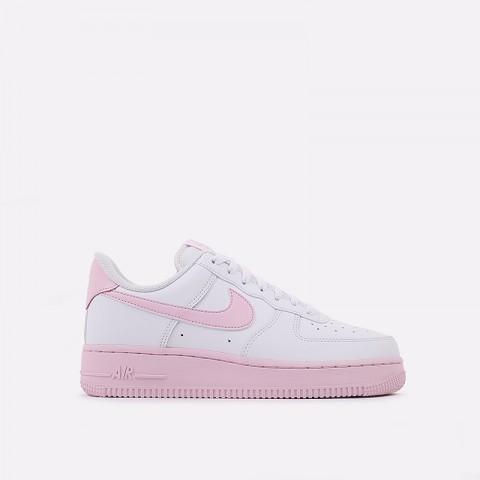 мужские белые, розовые  кроссовки nike air force 1 '07 CK7663-100 - цена, описание, фото 1
