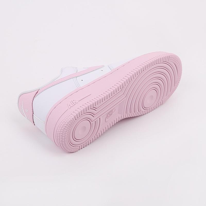 мужские белые, розовые  кроссовки nike air force 1 '07 CK7663-100 - цена, описание, фото 4