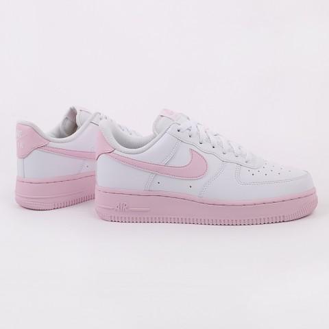 мужские белые, розовые  кроссовки nike air force 1 '07 CK7663-100 - цена, описание, фото 2