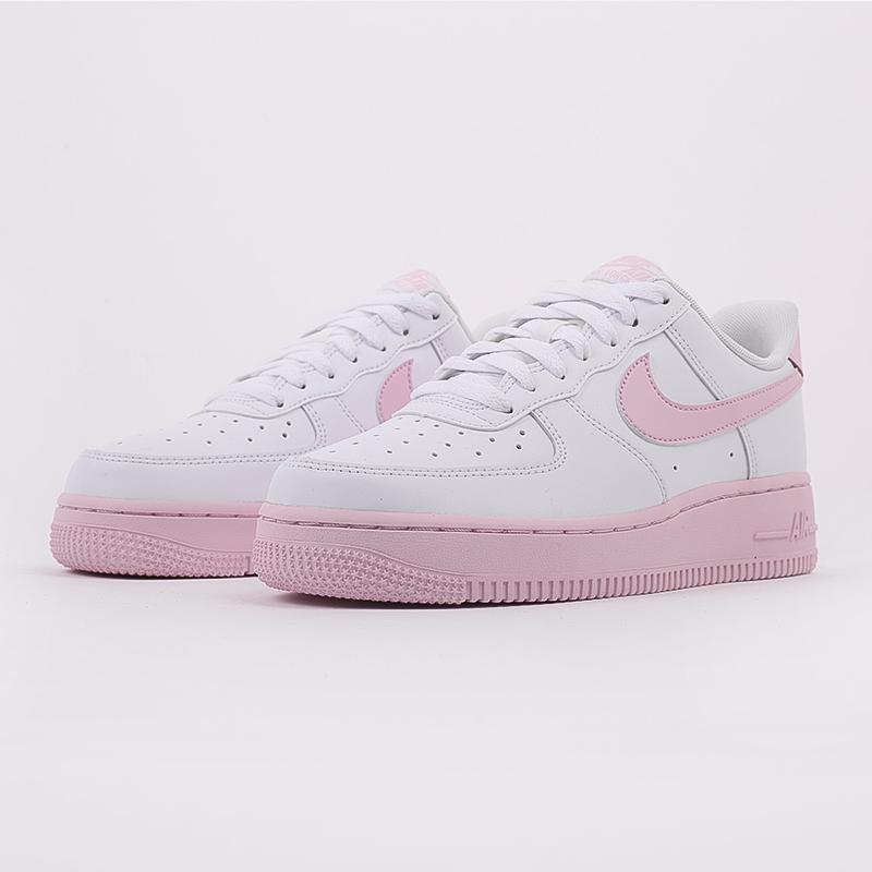 мужские белые, розовые  кроссовки nike air force 1 '07 CK7663-100 - цена, описание, фото 3