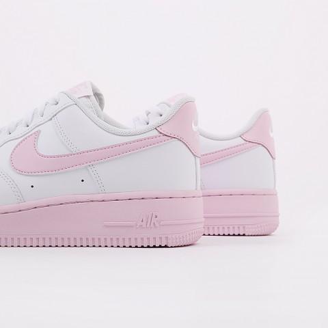 мужские белые, розовые  кроссовки nike air force 1 '07 CK7663-100 - цена, описание, фото 6