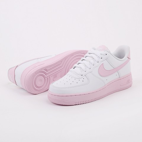 мужские белые, розовые  кроссовки nike air force 1 '07 CK7663-100 - цена, описание, фото 5