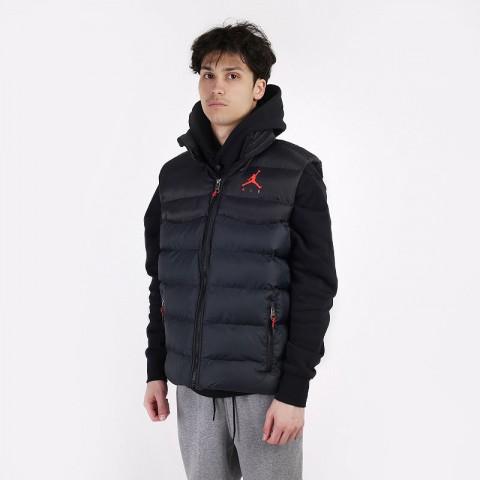 мужской черный  жилет jordan jumpman air puffer vest CN4267-010 - цена, описание, фото 1
