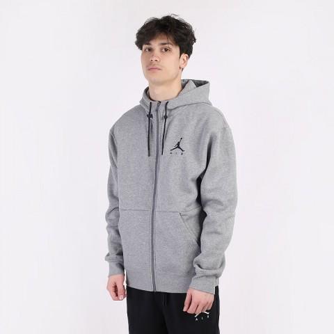 мужскую серую  толстовка jordan jumpman air fleece full zip hoodie CK6679-091 - цена, описание, фото 1