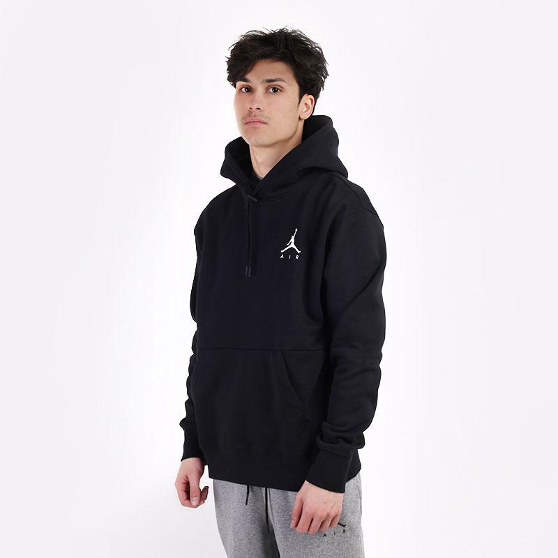 мужскую черную  толстовка jordan jumpman air fleece pullover hoodie CK6684-010 - цена, описание, фото 1