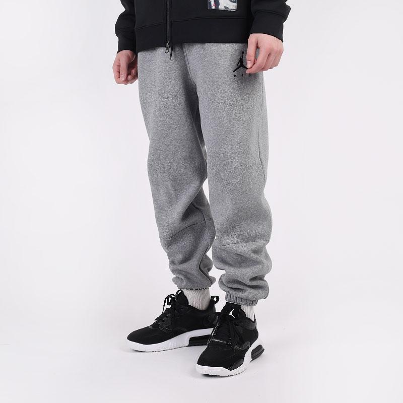 мужские серые  брюки jordan jumpman air fleece trousers CK6694-091 - цена, описание, фото 1