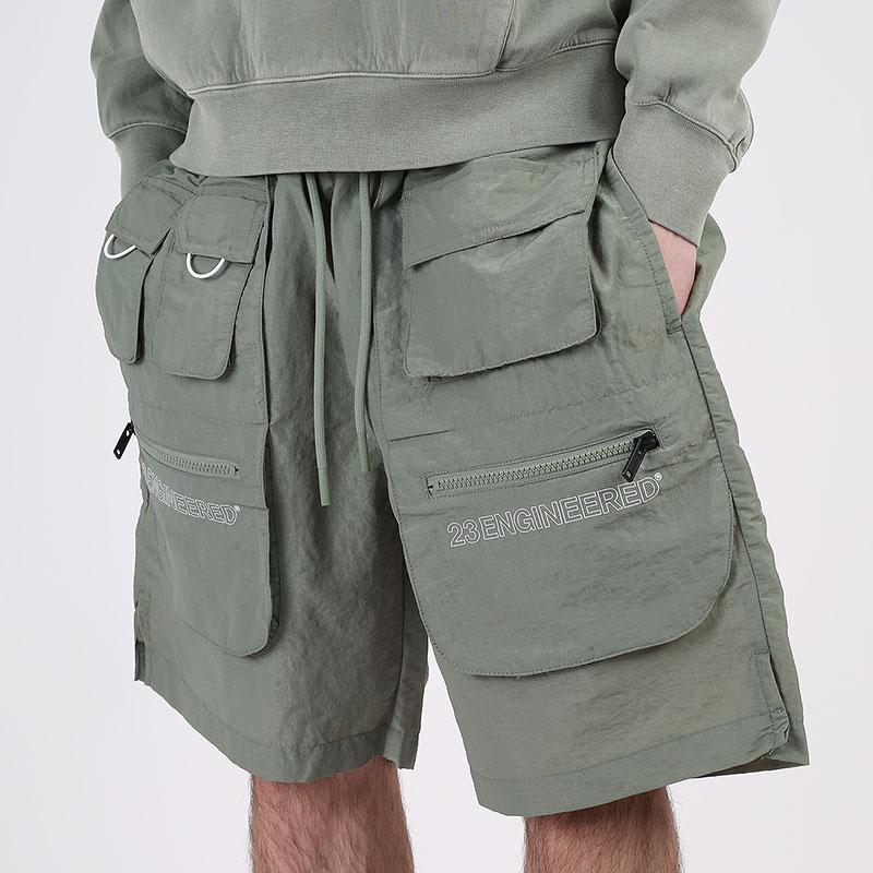 мужские зеленые  шорты  jordan 23 engineered utility shorts CN7298-313 - цена, описание, фото 1