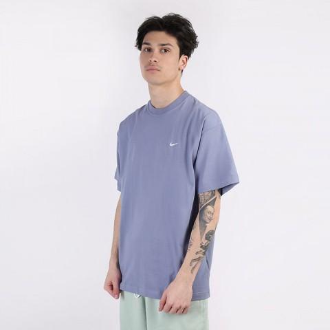 мужскую синюю  футболка nike nikelab nrg tee CV0559-512 - цена, описание, фото 1