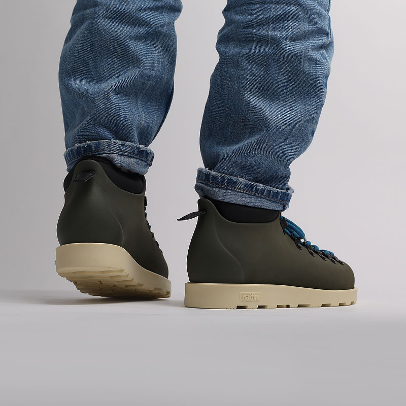 мужские зеленые  ботинки native fitzsimmons citylite 31106800-3430-olntgr/bnwh - цена, описание, фото 7