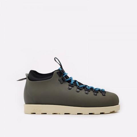 мужские зеленые  ботинки native fitzsimmons citylite 31106800-3430-olntgr/bnwh - цена, описание, фото 1