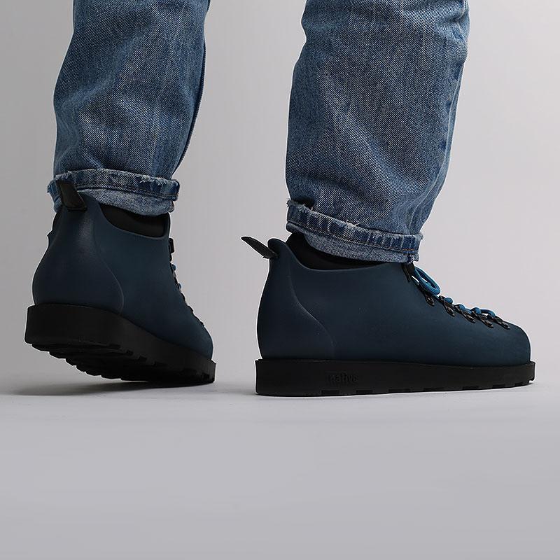 мужские синие  ботинки native fitzsimmons citylite 31106800-4080-reflbl/jfyb - цена, описание, фото 7