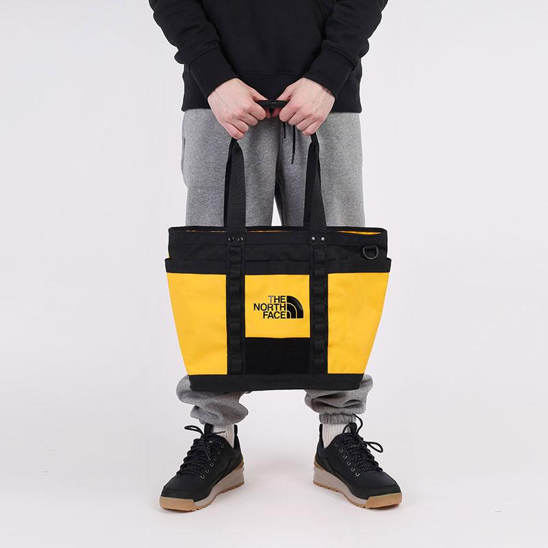 желтую  сумка the north face explore utlty tote 17l TA3KZUZU3 - цена, описание, фото 1
