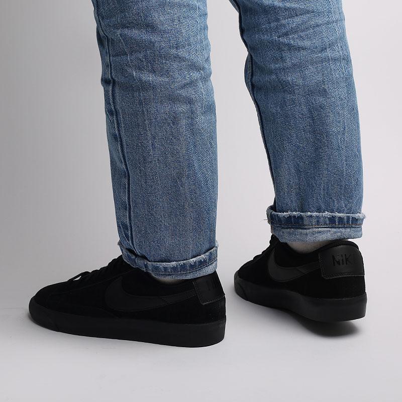 мужские черные  кроссовки nike blazer low le AQ3597-001 - цена, описание, фото 7