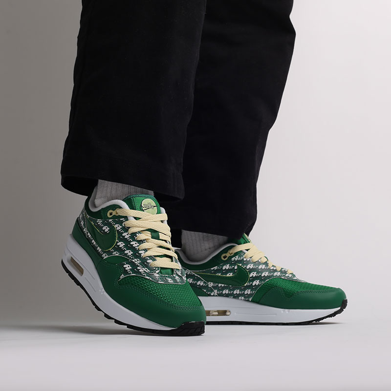 зеленые  кроссовки nike air max 1 prm CJ0609-300 - цена, описание, фото 7