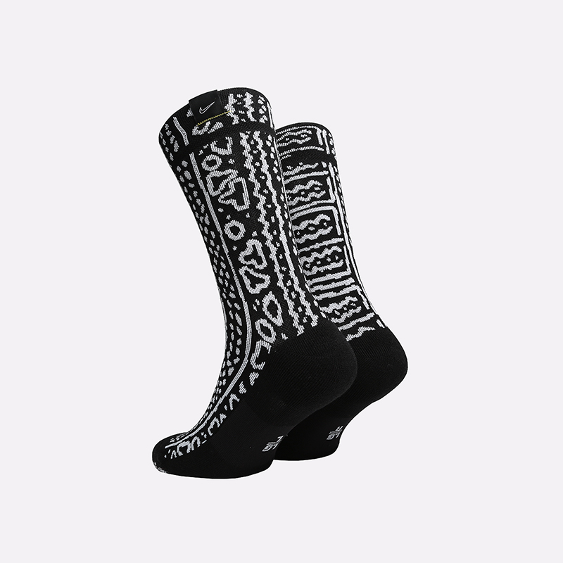 мужские чёрные  носки nike snkr sox CK6769-010 - цена, описание, фото 2