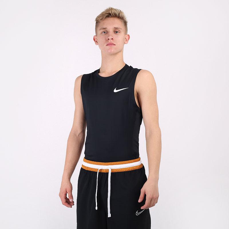 мужскую черную  майку nike pro sleeveless top BV5600-010 - цена, описание, фото 1