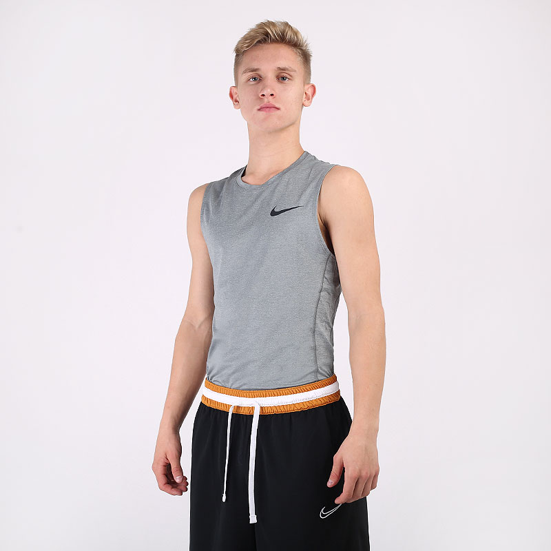 мужскую серую  майку nike pro sleeveless top BV5600-085 - цена, описание, фото 1