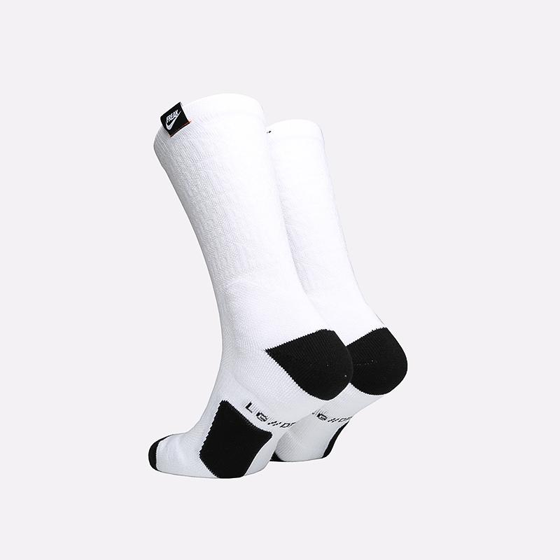мужские белые  носки nike elite crew CK6756-100 - цена, описание, фото 2