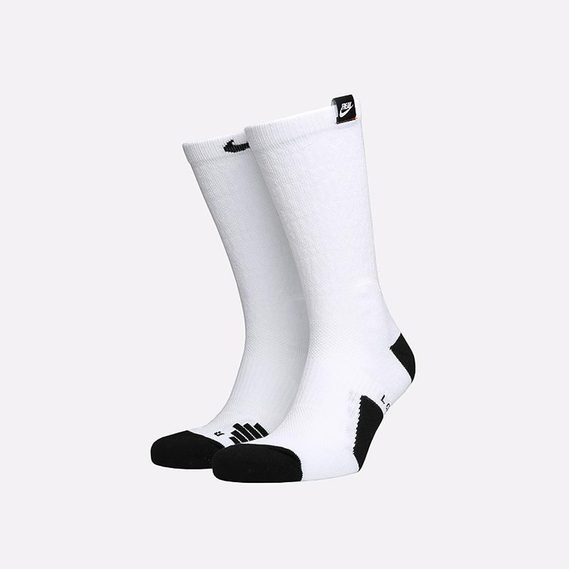 мужские белые  носки nike elite crew CK6756-100 - цена, описание, фото 1