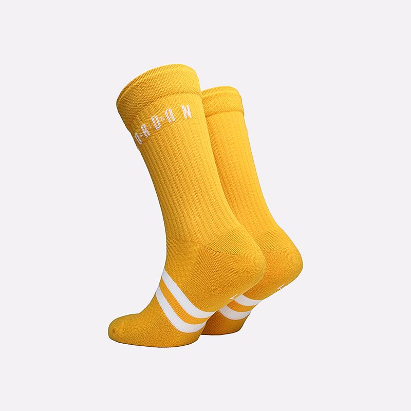 мужские жёлтые  носки jordan legacy crew SK0025-743 - цена, описание, фото 2