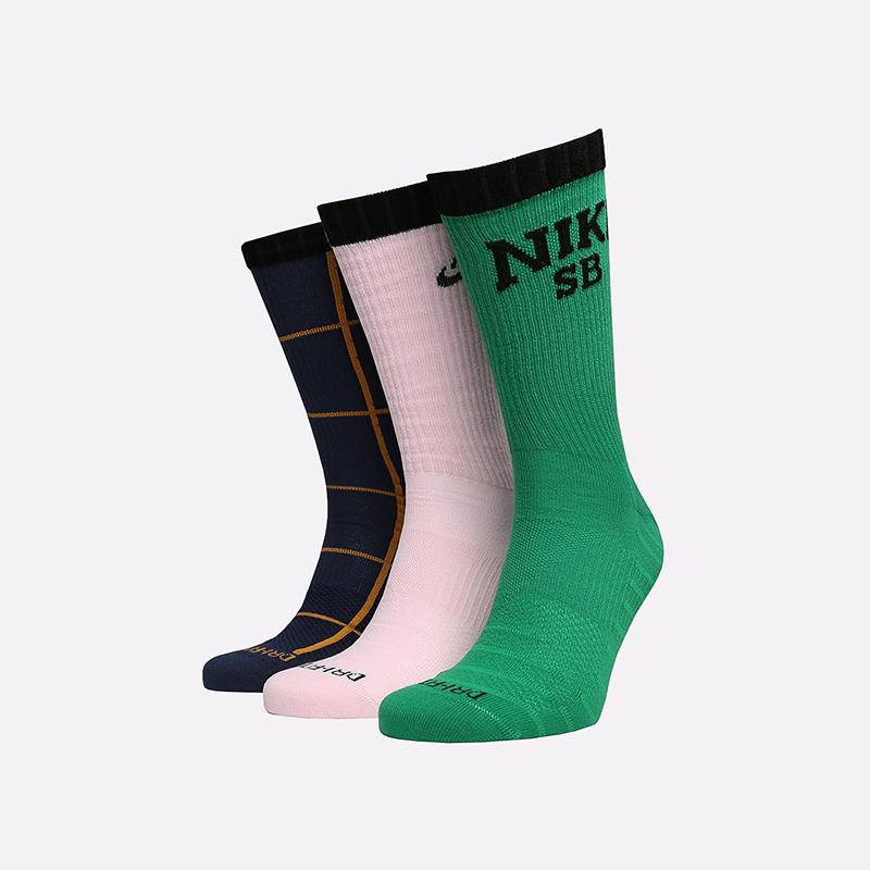 мужские разноцветные  носки nike everyday max CQ9360-902 - цена, описание, фото 1