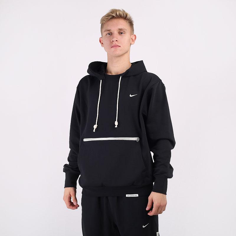 мужскую черную  толстовка nike standard issue basketball pullover hoodie CV0864-010 - цена, описание, фото 1
