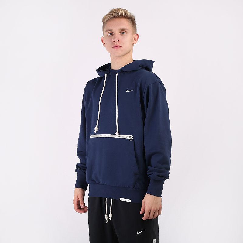 мужскую синюю  толстовка nike standard issue basketball pullover hoodie CV0864-419 - цена, описание, фото 1