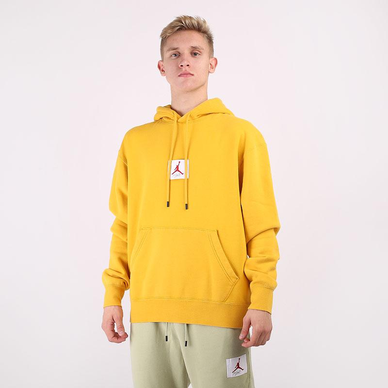 мужскую желтую  толстовка jordan flight fleece pullover hoodie CK6468-711 - цена, описание, фото 1