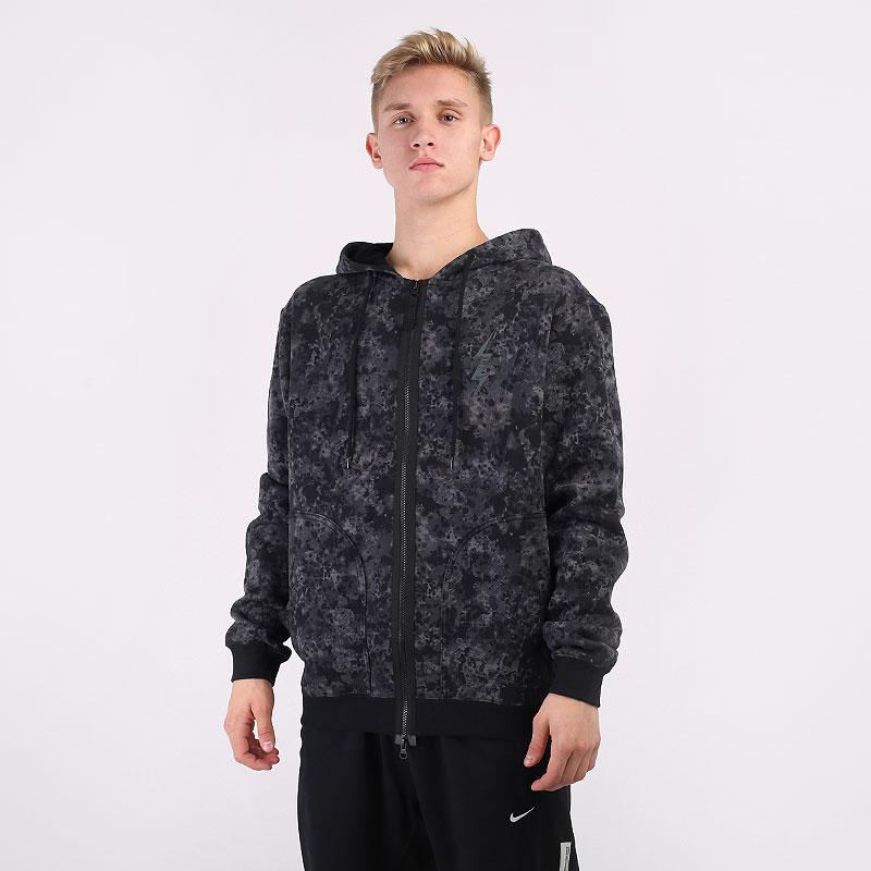мужскую серую  толстовка nike lebron printed full-zip hoodie CK6761-010 - цена, описание, фото 1