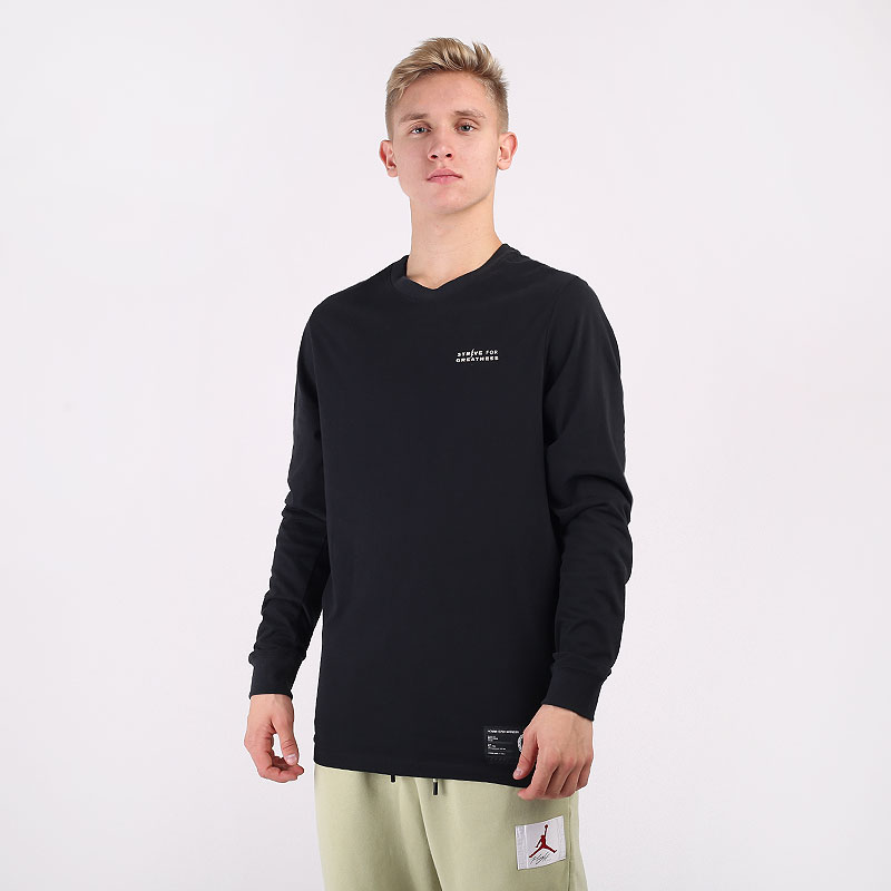 мужской черный  лонгслив nike dri-fit lebron basketball long-sleeve t-shirt CV2079-010 - цена, описание, фото 1