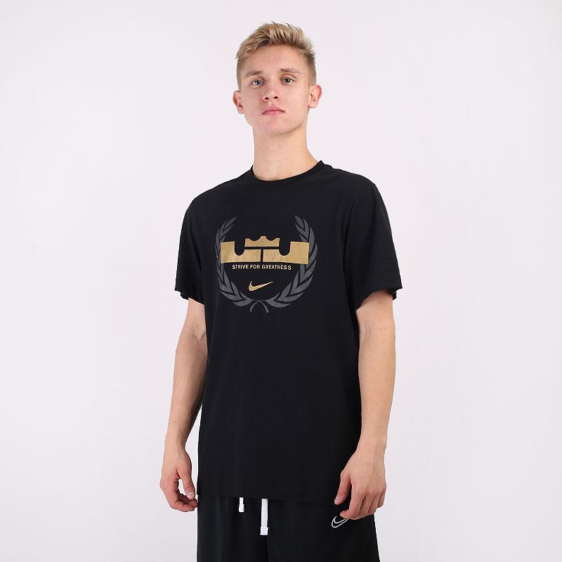 мужскую черную  футболка nike dri-fit lebron logo basketball t-shirt CV2047-010 - цена, описание, фото 1