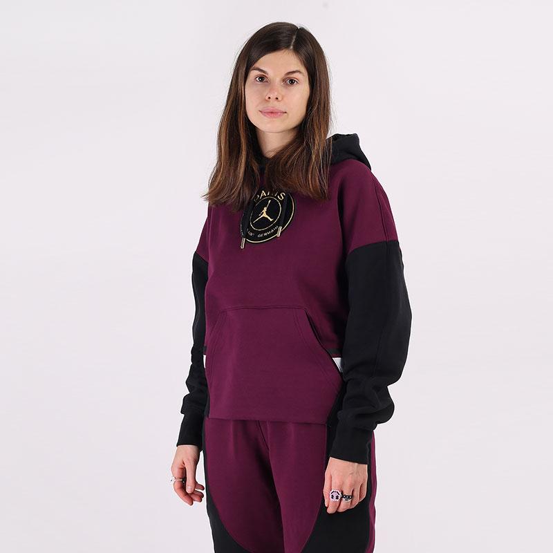 женскую фиолетовую  толстовка jordan paris saint-germain fleece hoodie CU5280-610 - цена, описание, фото 1