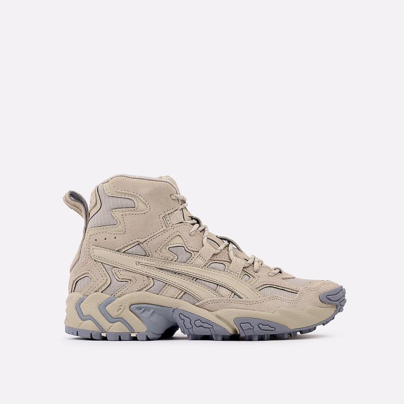 мужские бежевые  кроссовки asics gel-nandi hi 1021A475-200 - цена, описание, фото 1