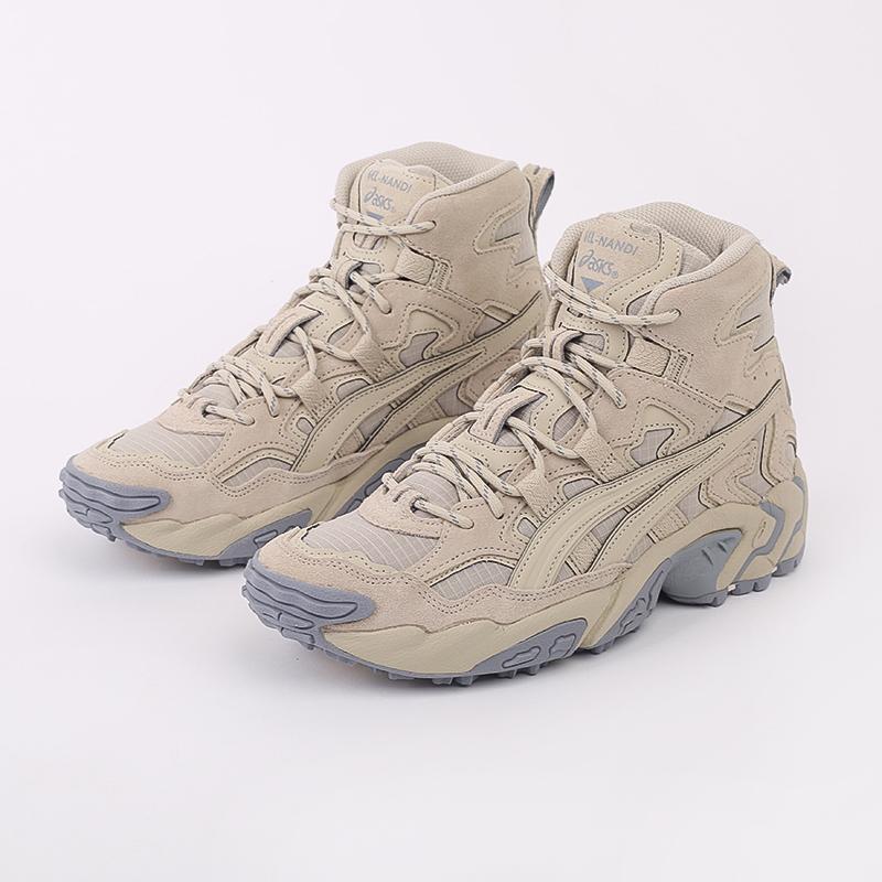 мужские бежевые  кроссовки asics gel-nandi hi 1021A475-200 - цена, описание, фото 5