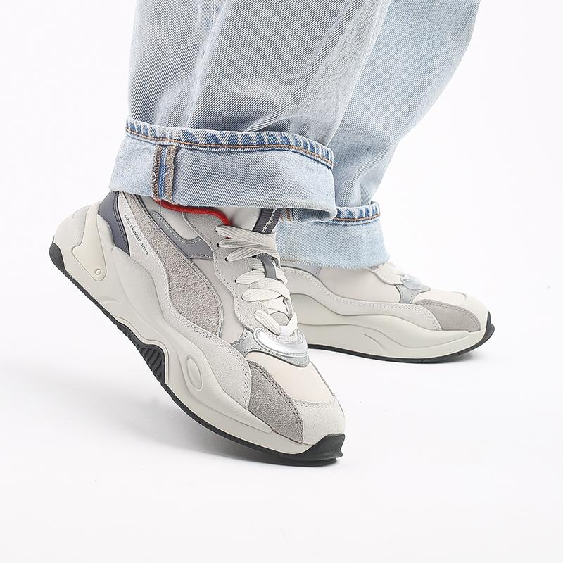 бежевые  кроссовки puma rs-2k x attempt 37351601 - цена, описание, фото 9