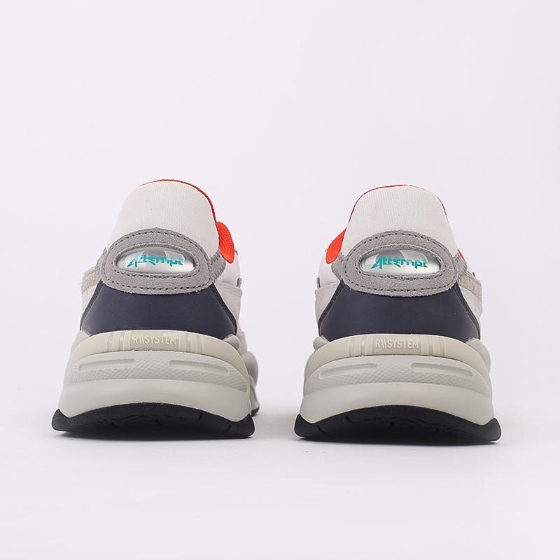 бежевые  кроссовки puma rs-2k x attempt 37351601 - цена, описание, фото 3