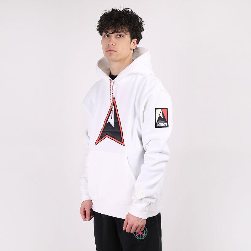 мужскую белую  толстовка jordan winter utility fleece pullover hoodie CT3489-100 - цена, описание, фото 1