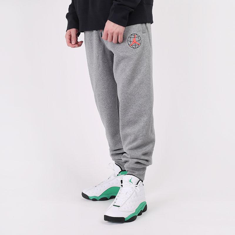 мужские серые  брюки jordan winter utility fleece trousers CT3495-091 - цена, описание, фото 1