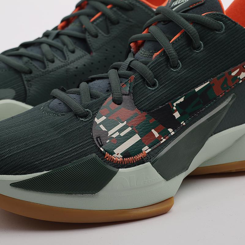 зелёные  кроссовки nike zoom freak 2 DC9853-300 - цена, описание, фото 7