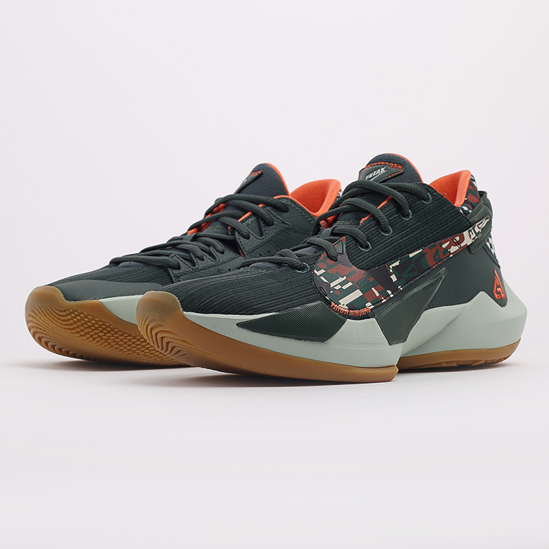 зелёные  кроссовки nike zoom freak 2 DC9853-300 - цена, описание, фото 2